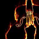 Klassische Geige in Flamme 3 von AnnArtshock