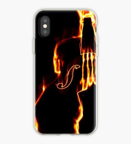 Klassische Geige in Flamme 3 iPhone-Hülle & Cover