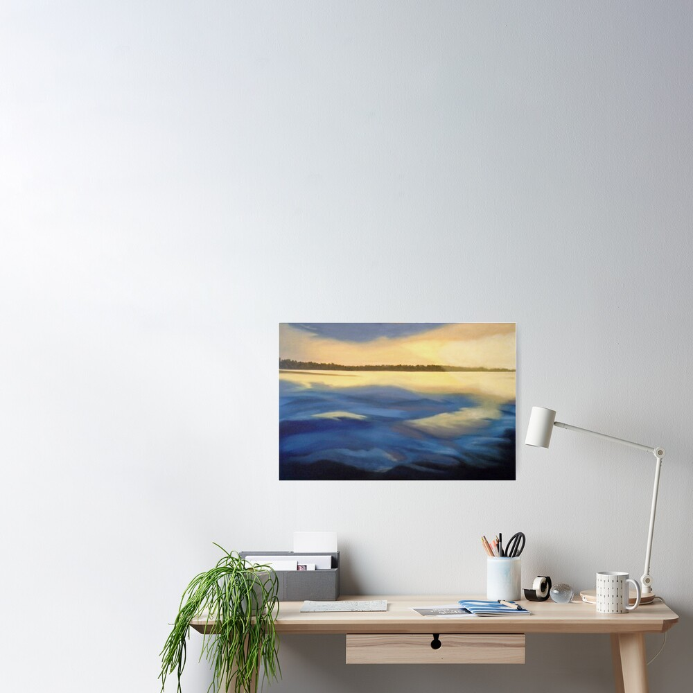 Illumination Ocean Painting Poster