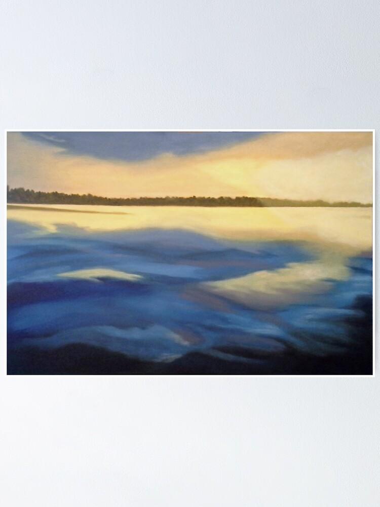 Alternate view of Illumination Ocean Painting Poster