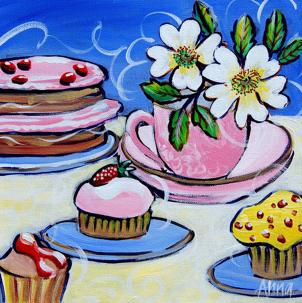 Coffee & Cake by Anna Bartlett