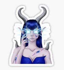 demone elfe sans fond Sticker