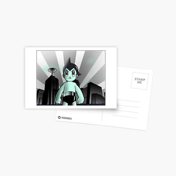 Astroboy Cityscape Postcard