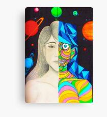 head between stars Canvas Print
