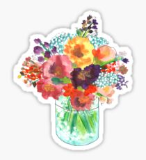 A-mason Flowers Sticker