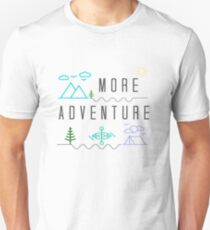 Get Outside for More Adventure, Camping Kayaking Hiking Gift Unisex T-Shirt