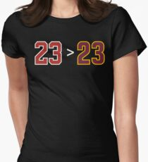 Jordan over James - 23 > 23 Womens Fitted T-Shirt