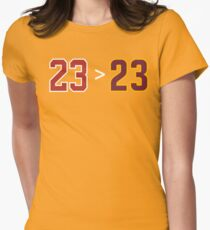 Jordan over James - 23 > 23 Womens Fitted T-Shirt