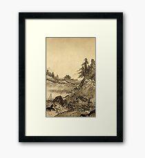 Sesshu Toyo Winter Landscape Framed Print