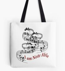 I Am Note Able Tote Bag
