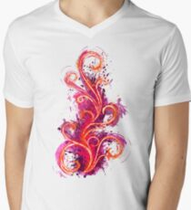 Abstract Flame Men's V-Neck T-Shirt