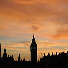 London Sunset by Ludwig Wagner