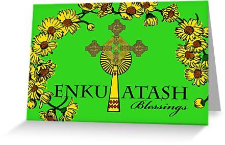 Enkutatash blessings ethiopian new year daises and cross greeting enkutatash blessings ethiopian new year daises and cross by shoaffballanger m4hsunfo