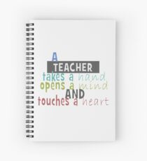 Teacher - Hand - Mind - Heart Spiral Notebook