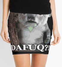 Surprised Koala Meme  Mini Skirt
