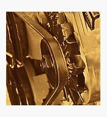 Old Farm Truck Motor Photographic Print