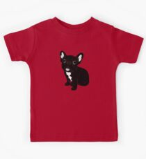 Cute Brindle Frenchie Puppy Kids Tee