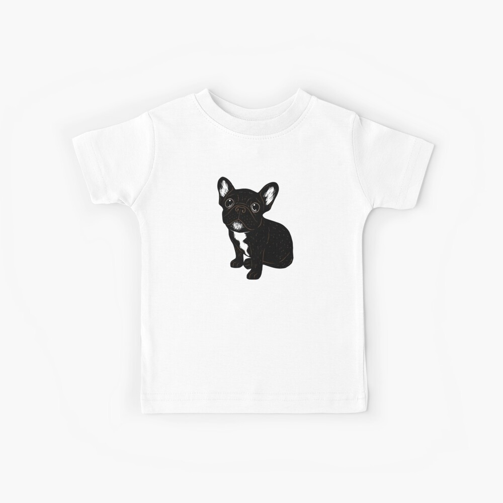 Cute Brindle Frenchie Puppy Kids T-Shirt