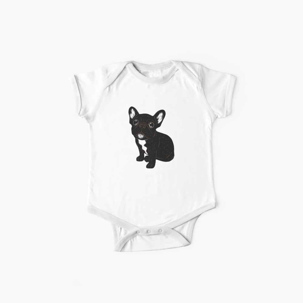 Cute Brindle Frenchie Puppy Baby One-Piece