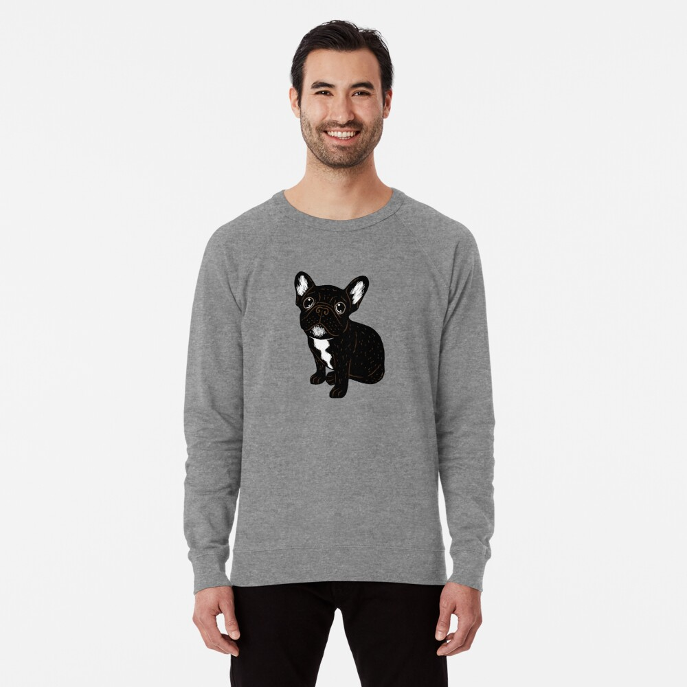 Cute Brindle Frenchie Puppy Lightweight Sweatshirt