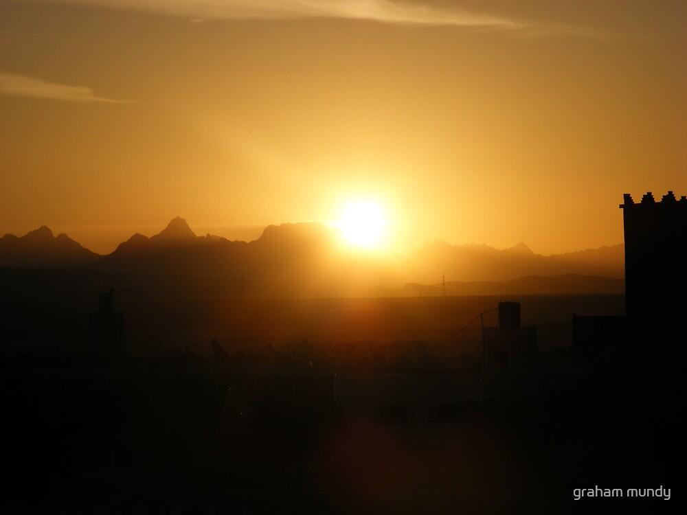sunset in egypt by graham mundy