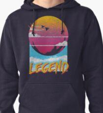 Legend Distressed Design Pullover Hoodie