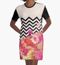 Chevron Flora II Graphic T-Shirt Dress