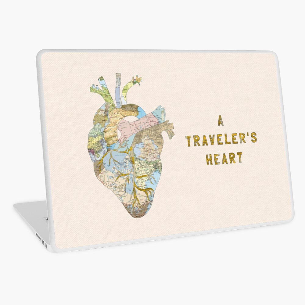 A Traveler's Heart Laptop Skin