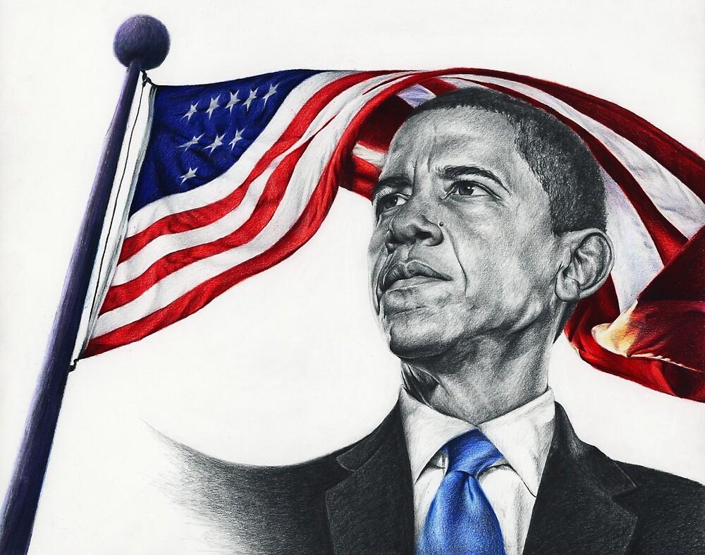 Portrait of Barack Obama by Purujit Chatterjee