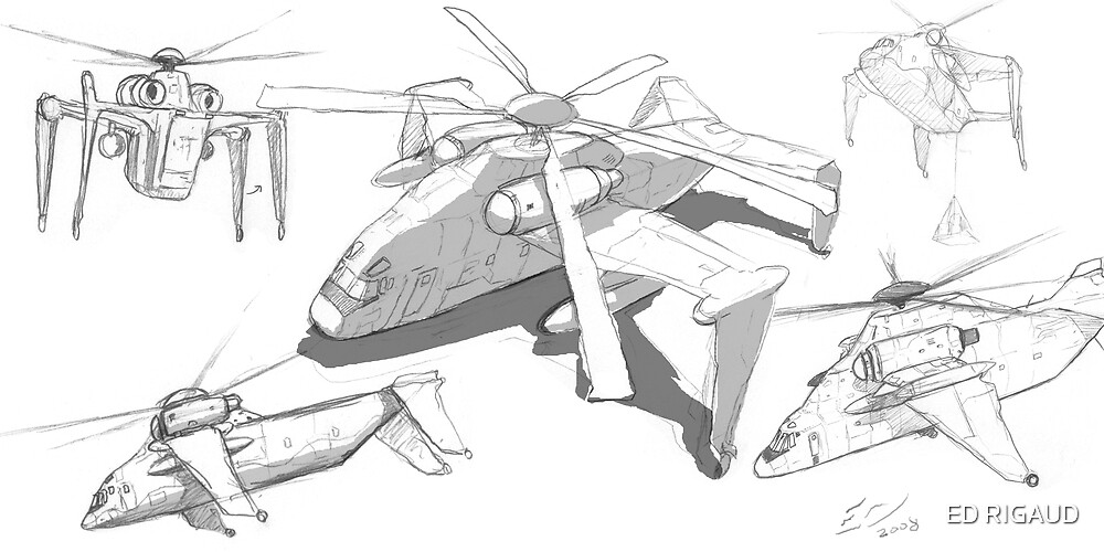 H 78 Humpback sketch by ED RIGAUD