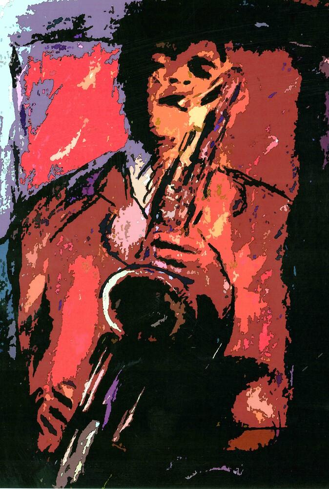 Saxophonist 2 by cliffwarner