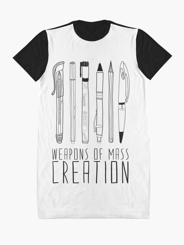 Alternate view of Weapons Of Mass Creation Graphic T-Shirt Dress