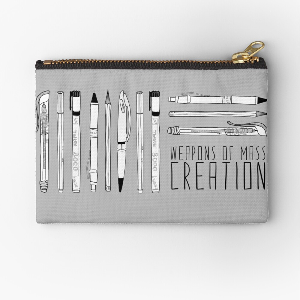 Weapons Of Mass Creation Zipper Pouch