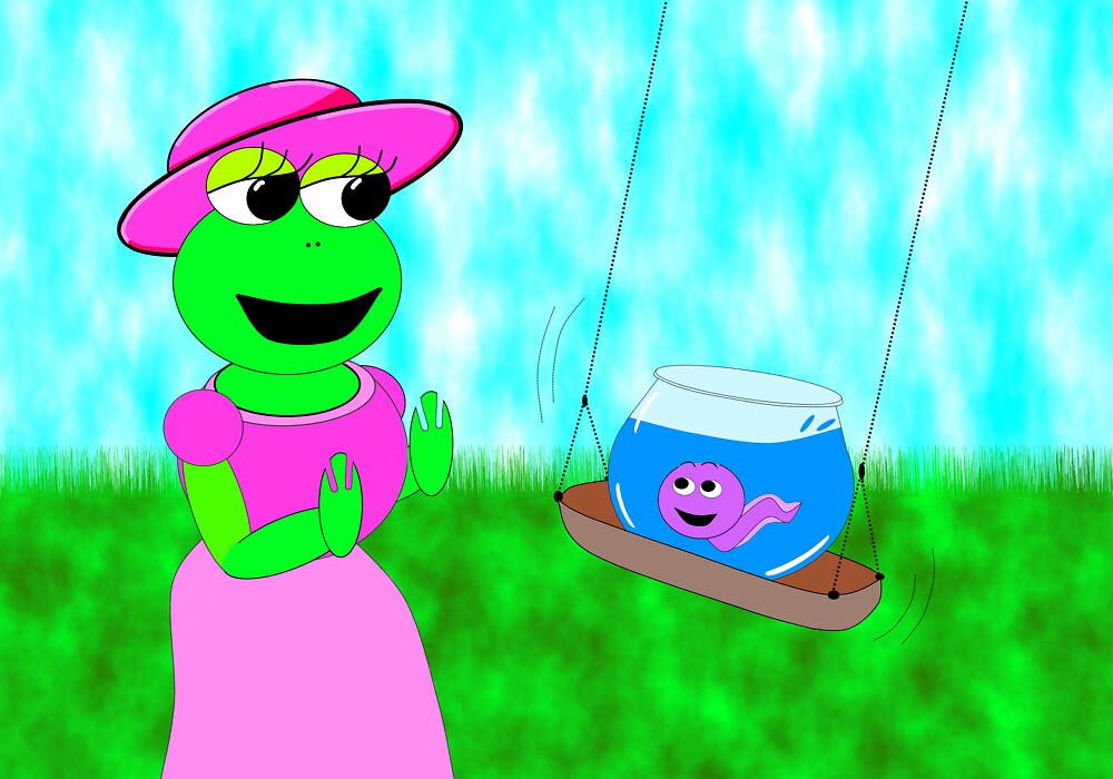 Swinging frog by EddyG