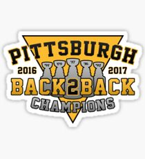 Pittsburgh Back2Back Champs Sticker