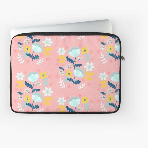 Flower Power in Pink Pattern  Laptop Sleeve