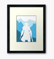 Dragonborn -  Blue Framed Print