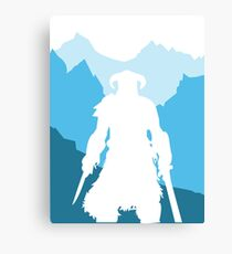 Dragonborn -  Blue Canvas Print