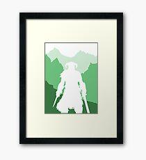 Dragonborn - Green Framed Print