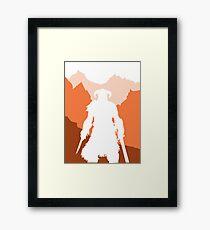 Dragonborn - Orange Framed Print