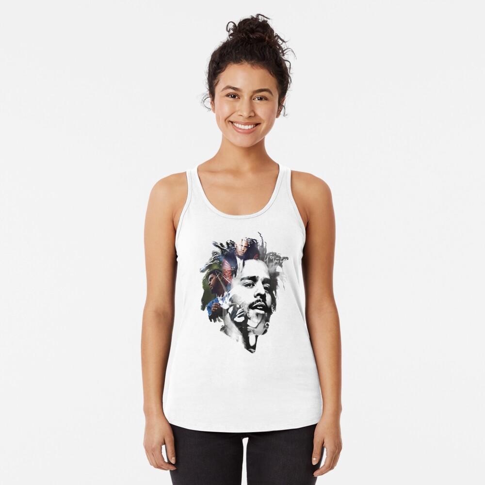 J Cole Camiseta con espalda nadadora