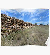 Stone Fence, Sedan Hill,South Australia 2011 Poster