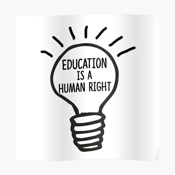Education is a Human Right Poster