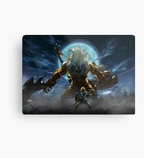 The Legend of Zelda - Breath of the Wild - Link vs Gold Lynel Metal Print