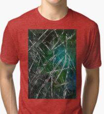 Modern Abstract Scratches - Green Tri-blend T-Shirt