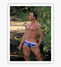 Elite Male Fitness Model - A454 Sticker