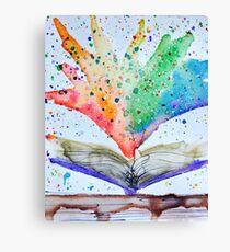 Reading Rainbows Canvas Print