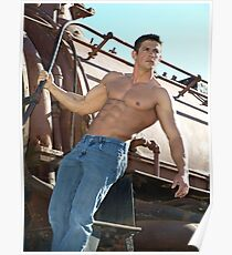 Elite Male Fitness Model - A462 Poster