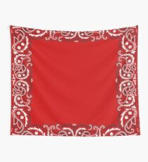 Bandana - Red - Selections Available  Wall Tapestry