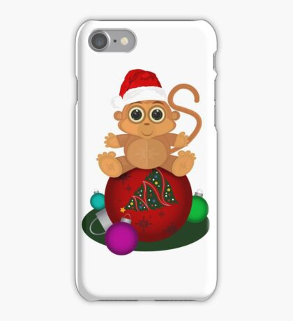 Christmas Monkey iPhone Case/Skin